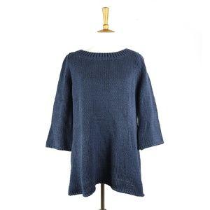 Soft Surroundings blue chunky knit sweater, sz L